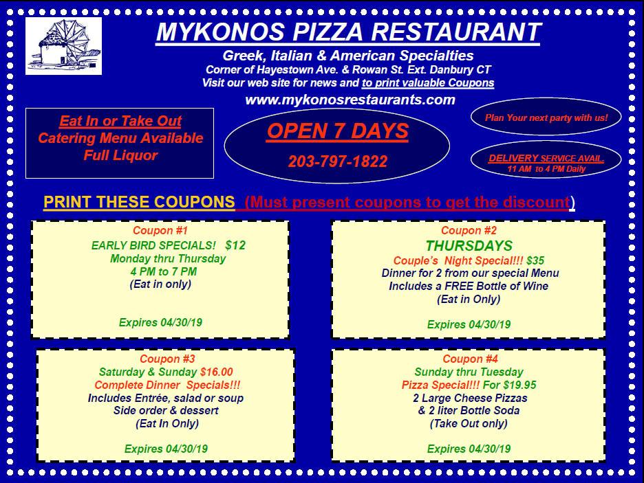 mykonos smithtown coupons